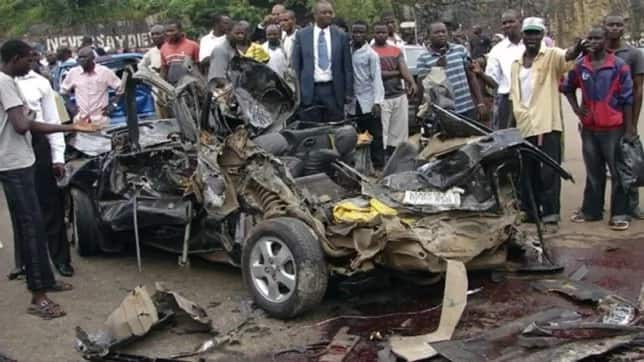 Accident on a Nigerian road
